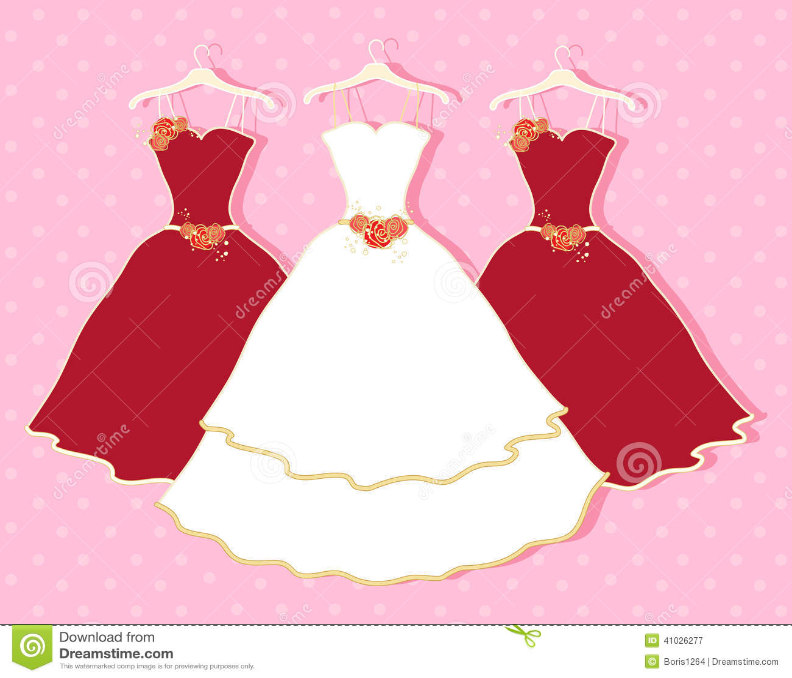 Abstract wedding dress stock vector. Illustration of romance - 41026277