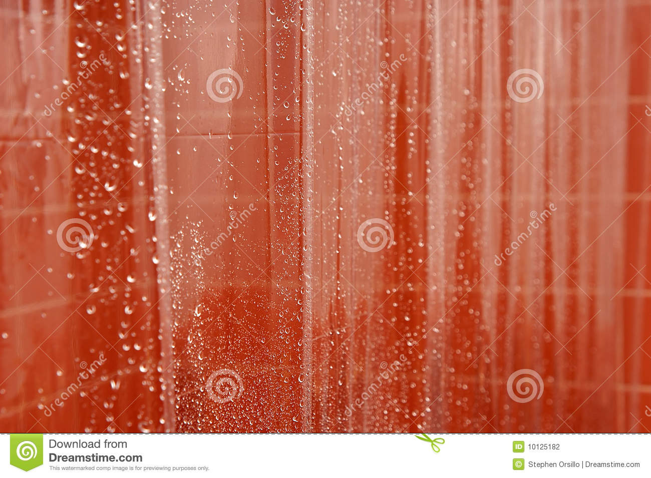 abstract wet shower curtain stock photography image