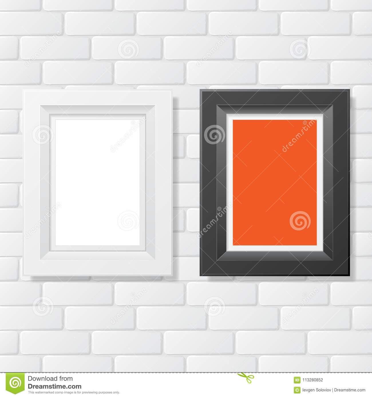 Two picture frames brick stock vector. Illustration of feature ...