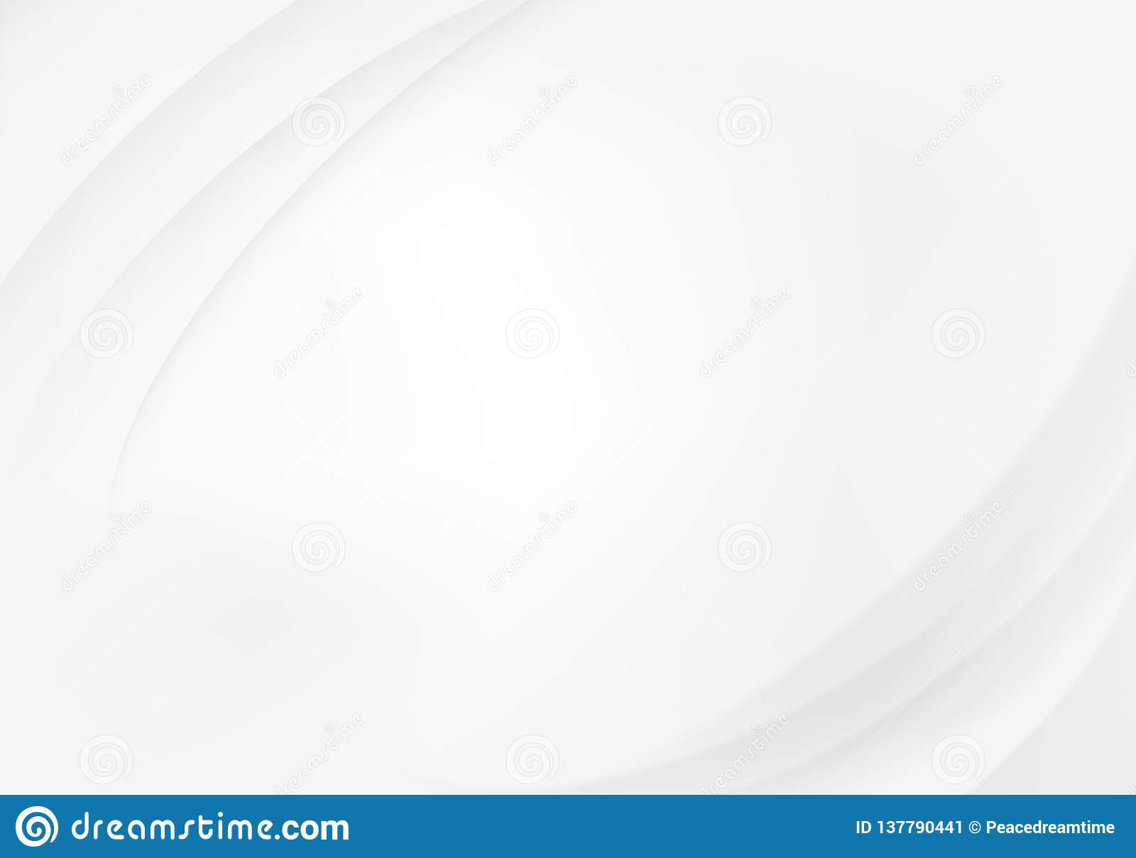 Abstract white background with waves