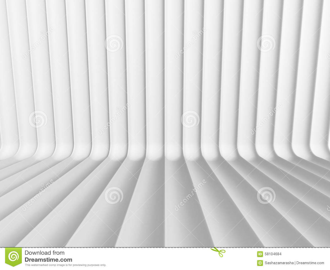 White 3d Background Abstract: Abstract White Curve Lines 3d Background Stock Photo
