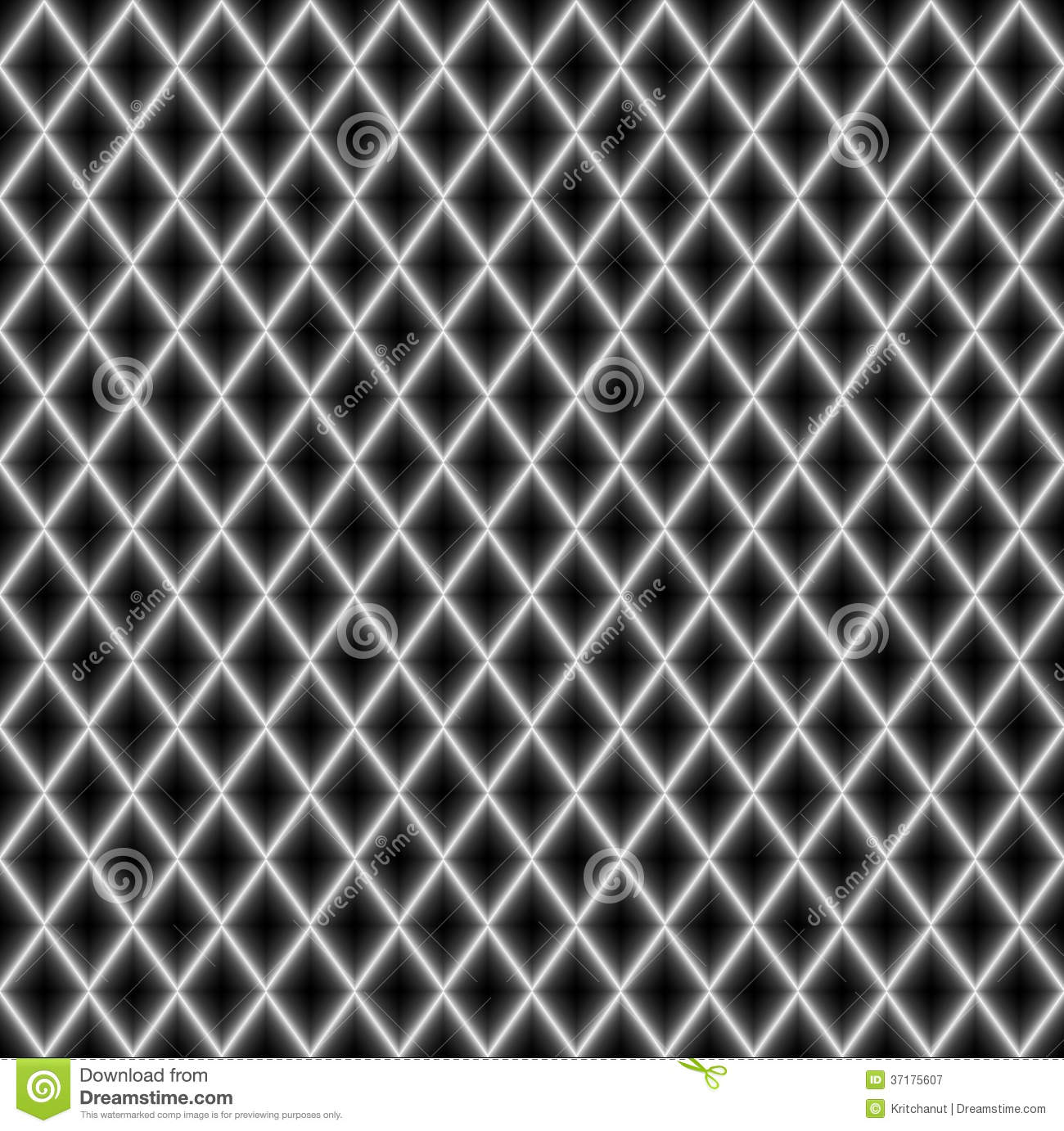 Abstract White Diagonal Glow Lines On Black Background
