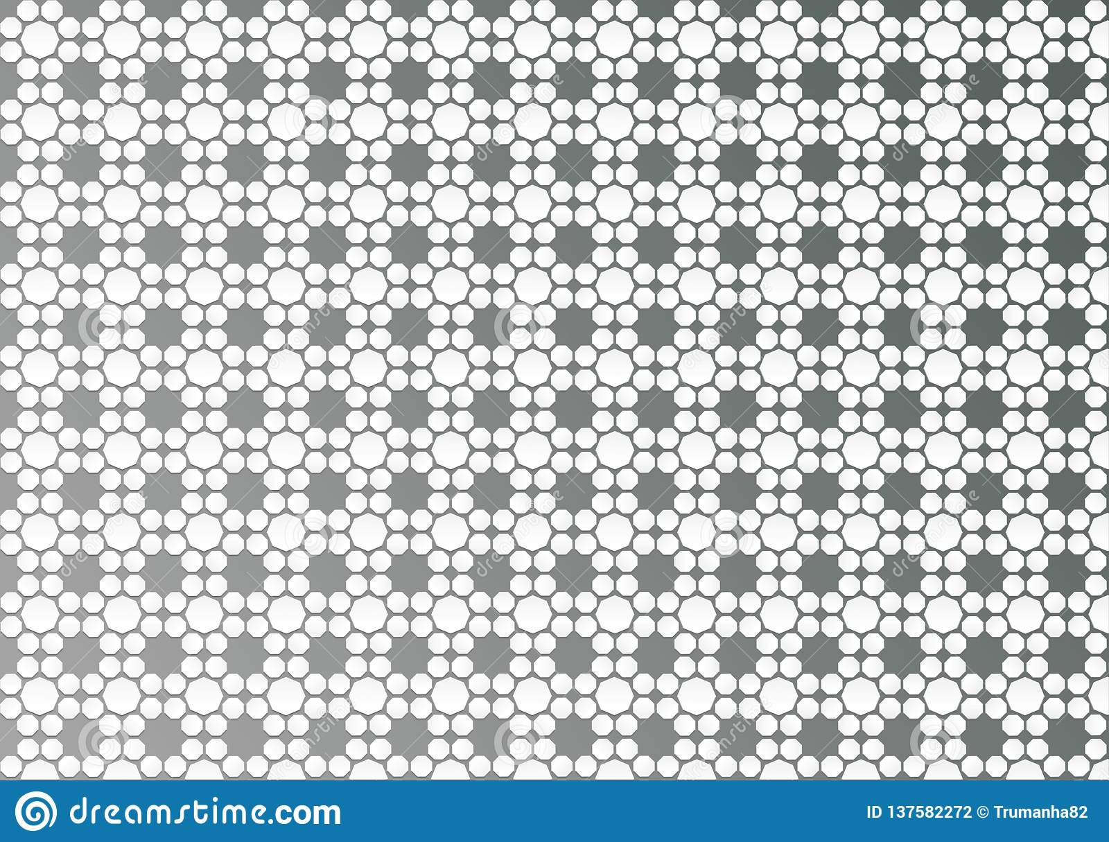 Abstract White Geometric Floral Texture in Grey Background