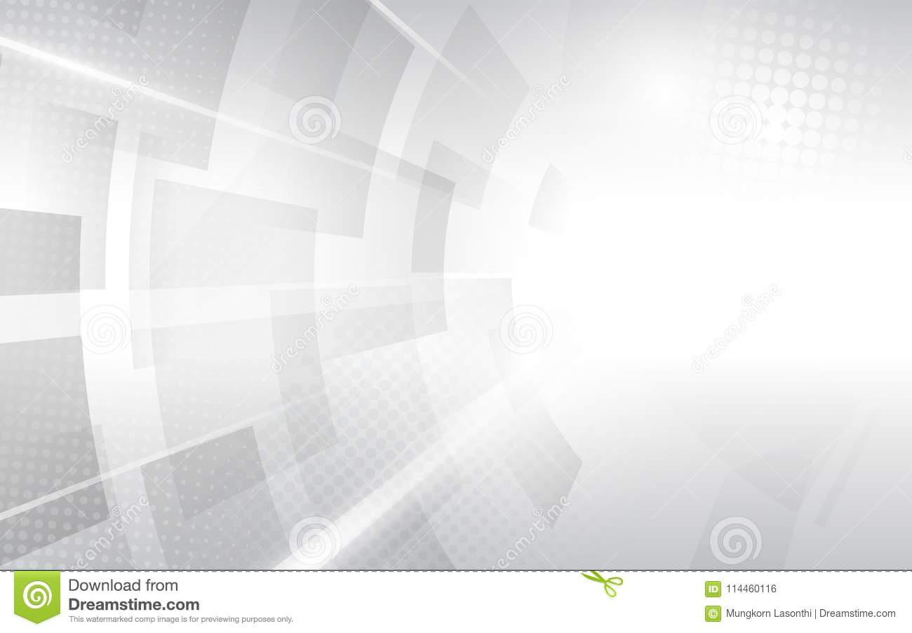 690cd0381c Abstract white and grey modern square shape with Halftone. Futuristic  concept background.