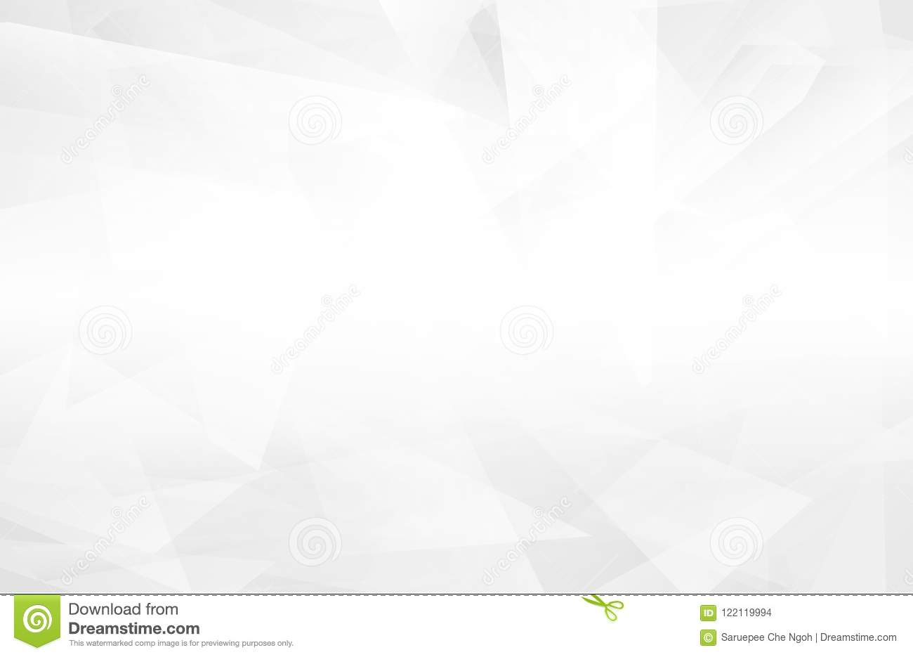 Abstract white interior highlights future. gray background, Lowpoly Background with copy-space. White paper modern polygon backgro