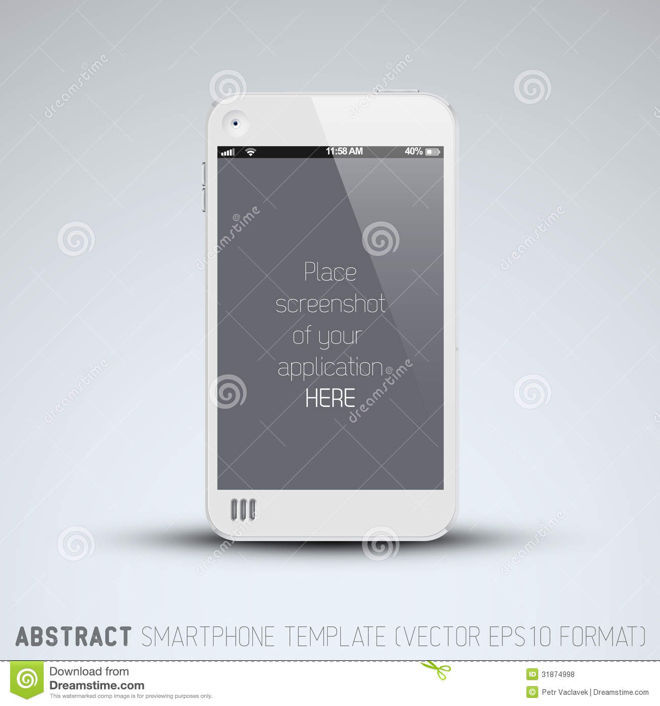 Abstract White Mobile Phone Template Royalty Free Stock Photos - Image ...