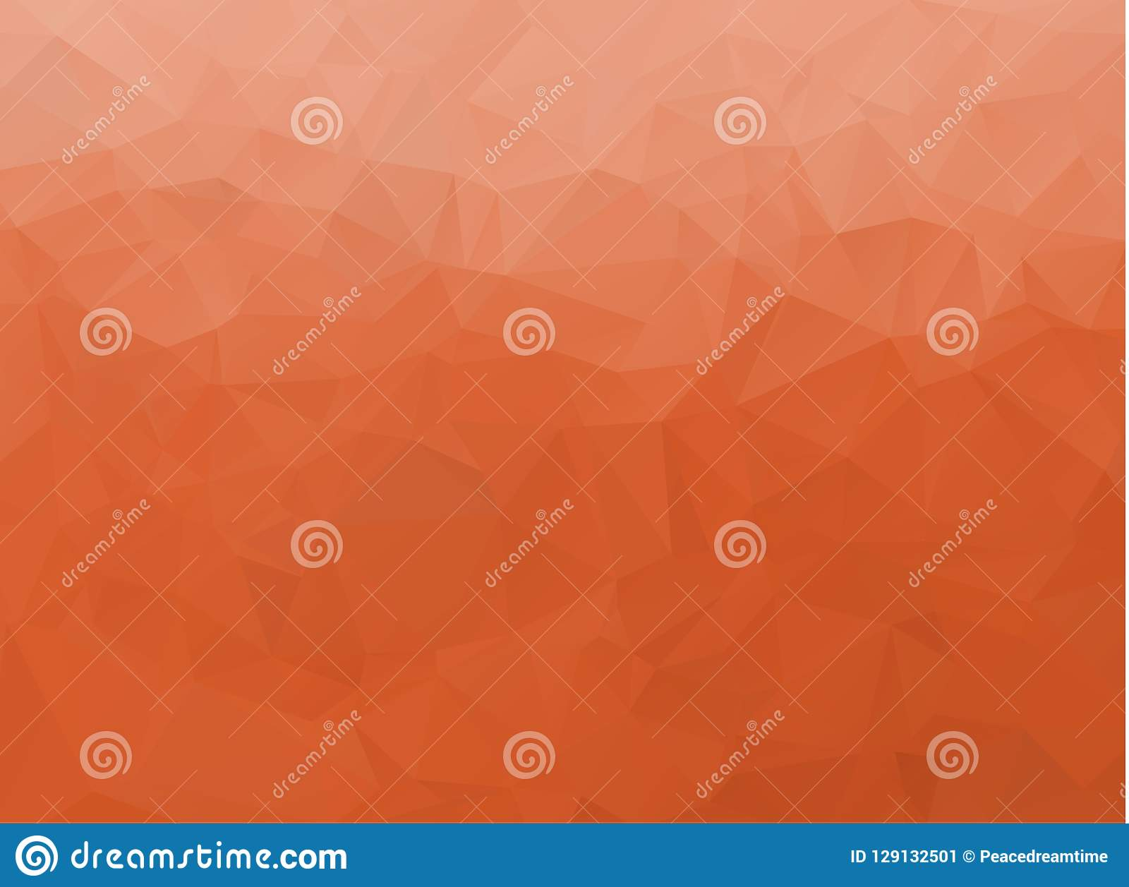 Abstract White and orange polygonal background. Multicolor low poly gradient background. Crystal polygonal background