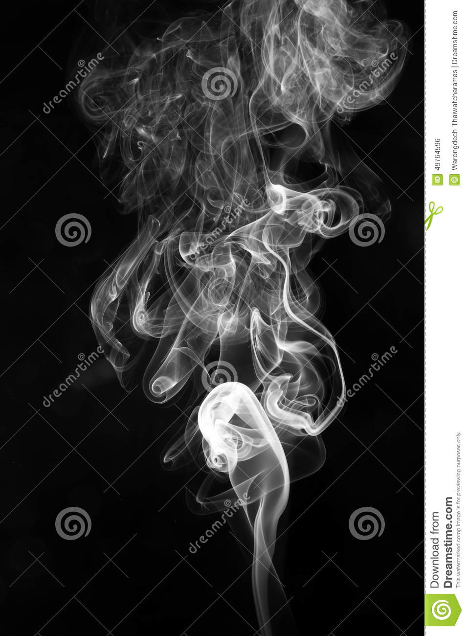 Abstract White Smoke On Black Background Stock Photo ...