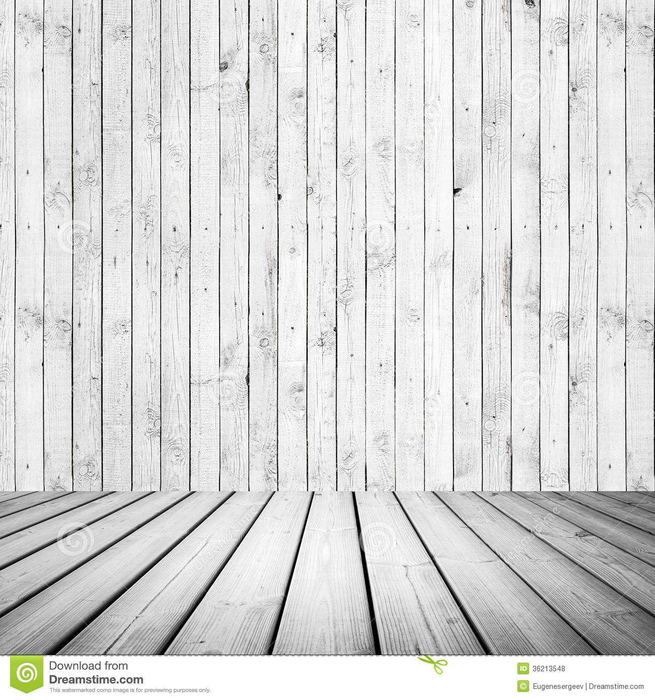 Abstract White Wooden Interior Royalty Free Stock Photos