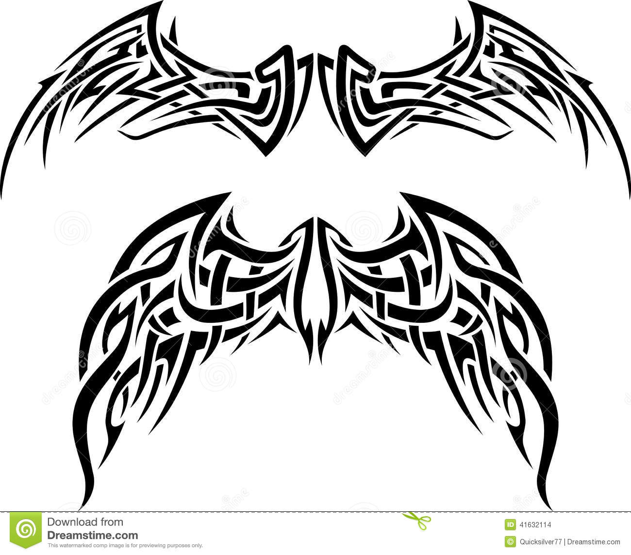 Abstract Wing Tattoo Stock Vector Image 41632114