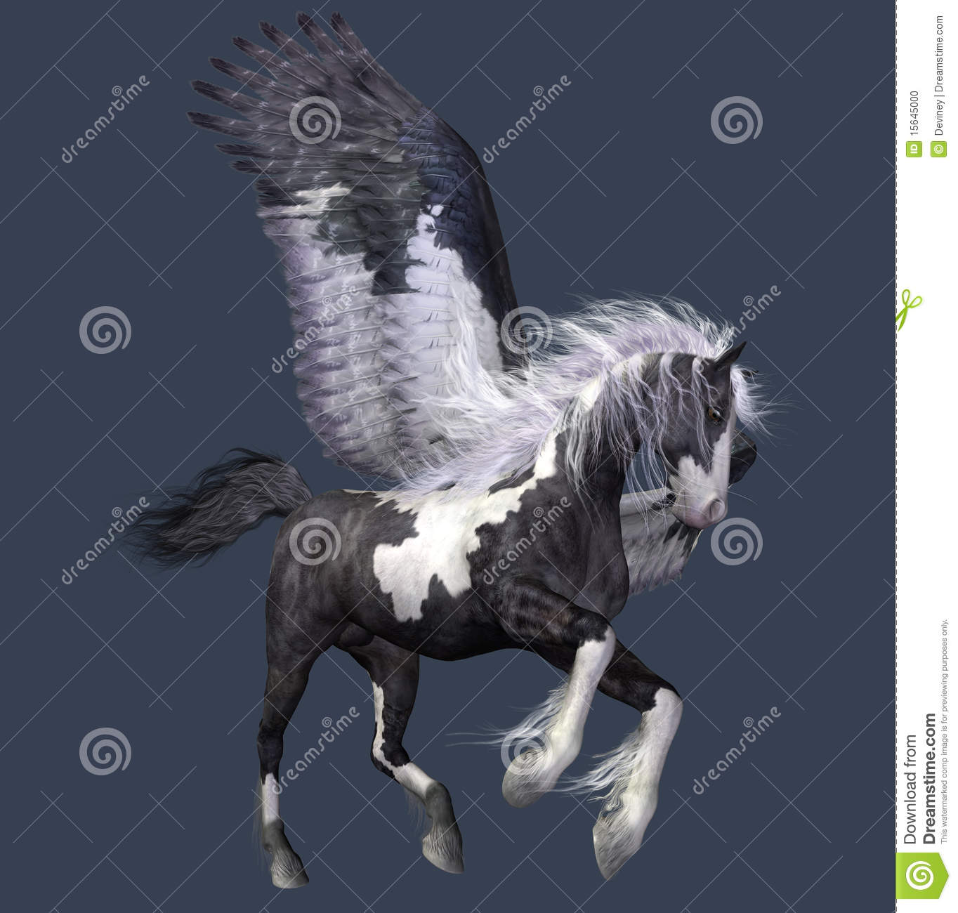 Abstract Winged Horse Stock Illustration Illustration Of Abstract 15645000