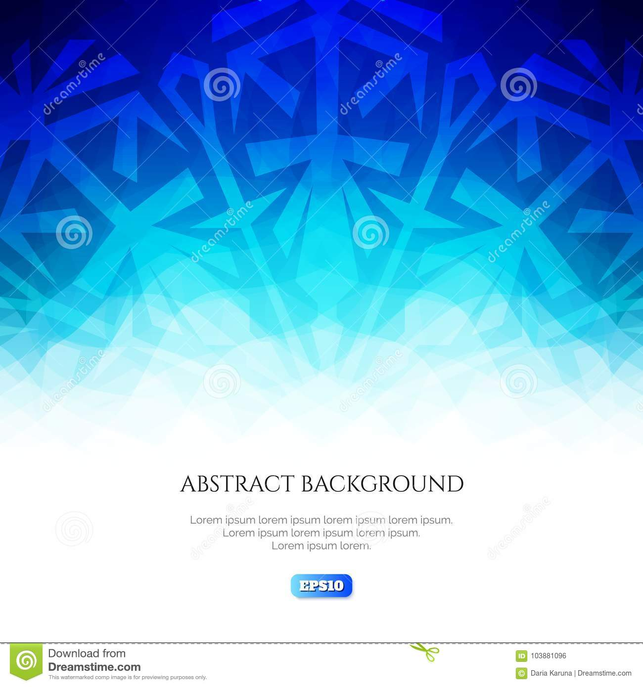 Download Abstract Winter Background. Cool Shades Of Colors. Ice Flower On A  Blue Background