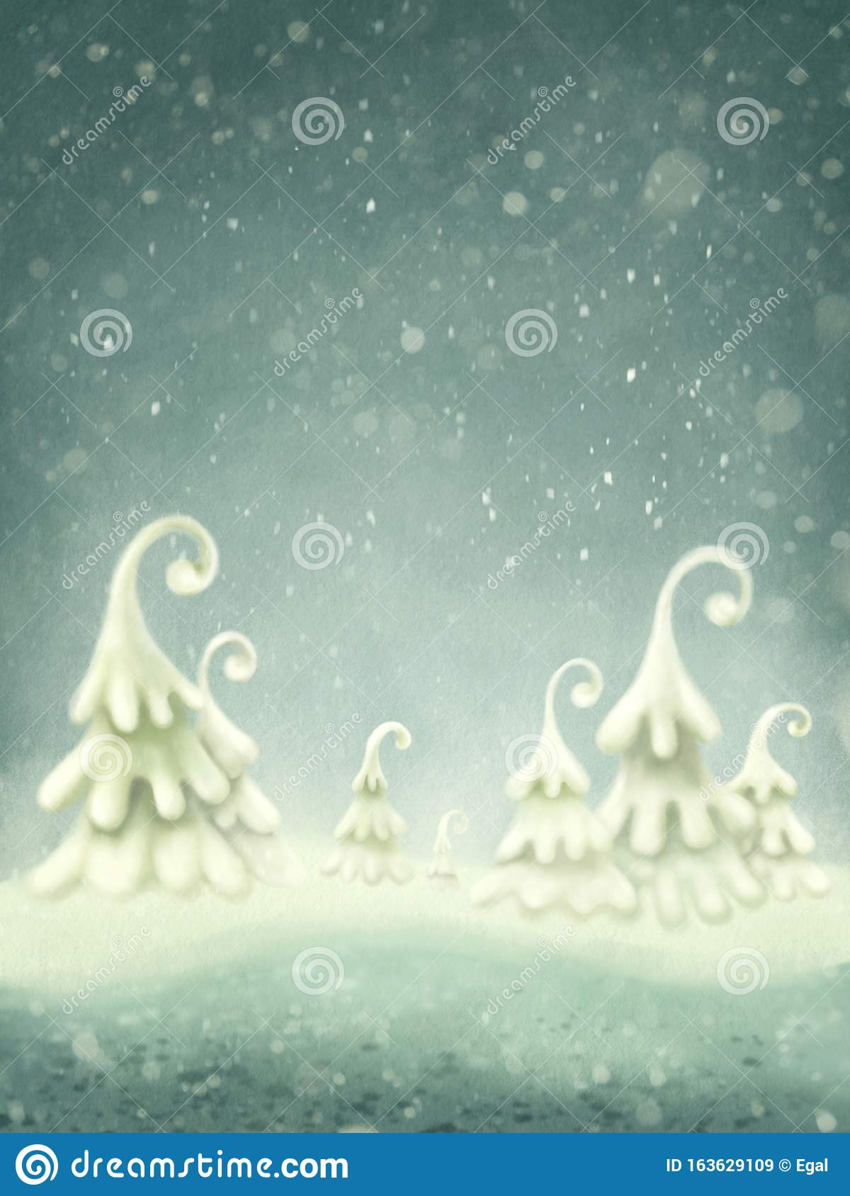 Abstract winter magic landscape