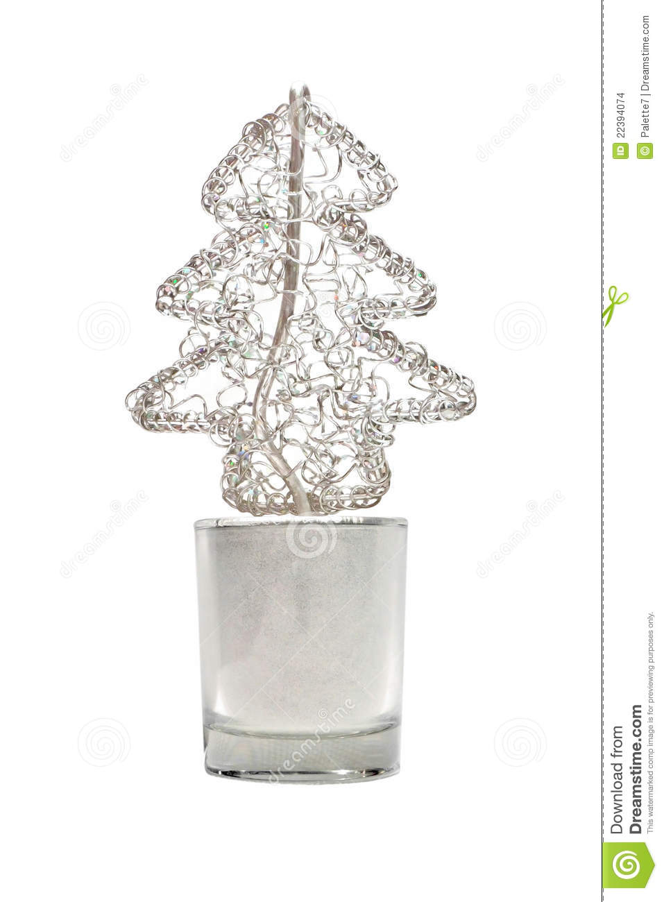 download abstract wired metal christmas tree in small glass stock photo image of celebration - Small Metal Christmas Tree