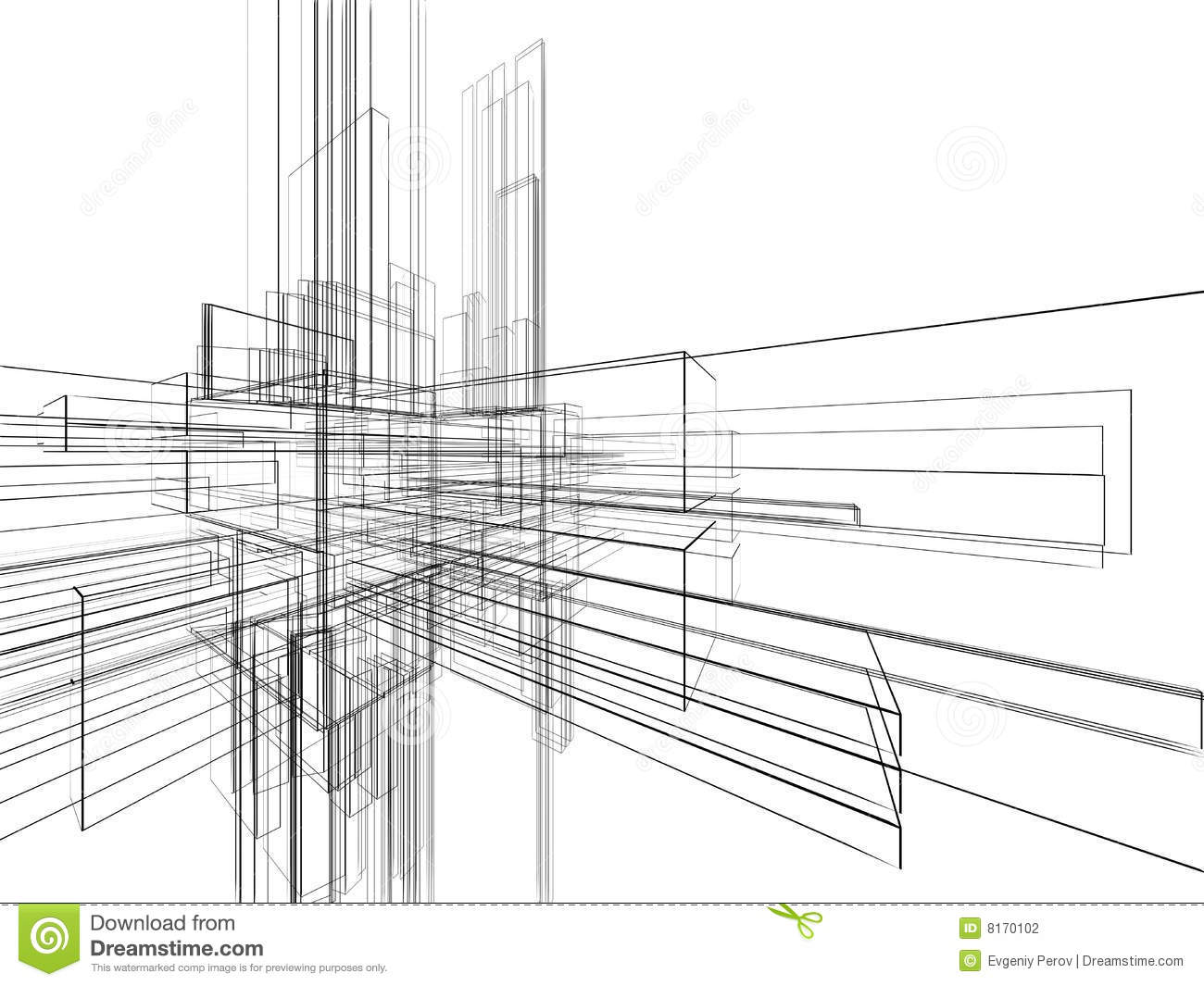 Stock Photography Abstract Wireframe White Background Image8170102 on A Frame Building Plans