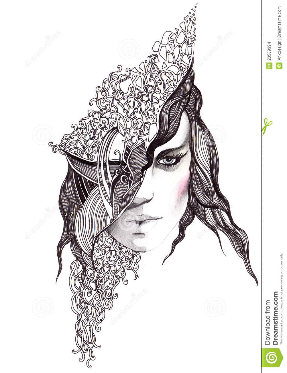 Abstract Woman Face Stock Images - Image: 23589394