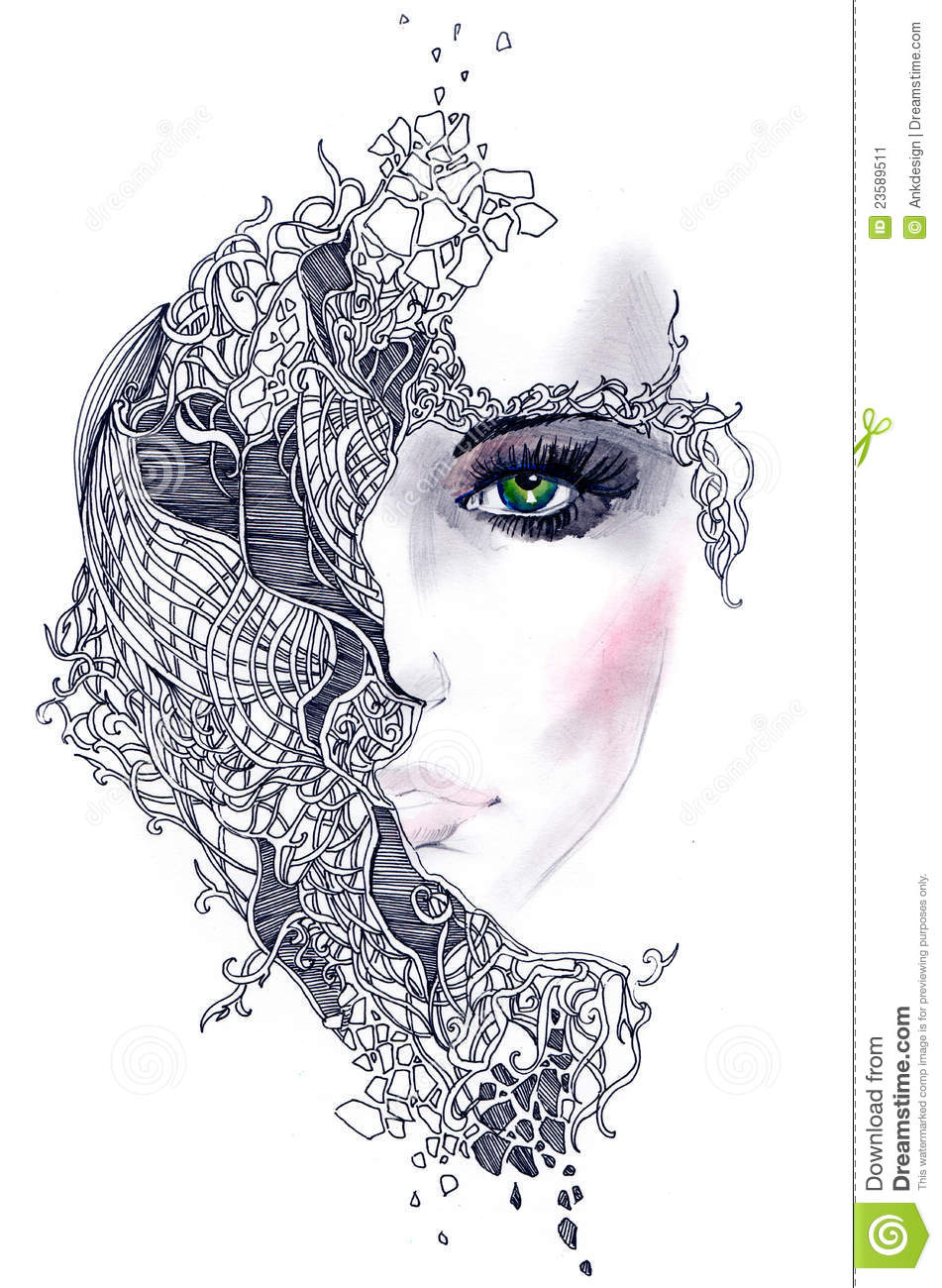 Abstract Woman Face Stock Image - Image: 23589511