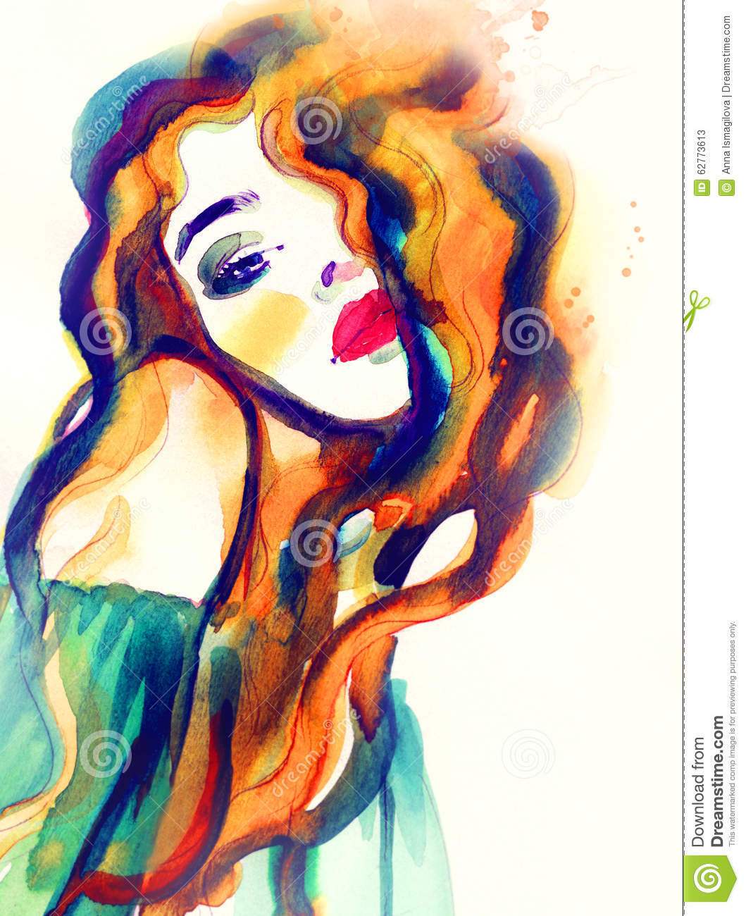 Abstract Woman Face .fashion Background Stock Illustration