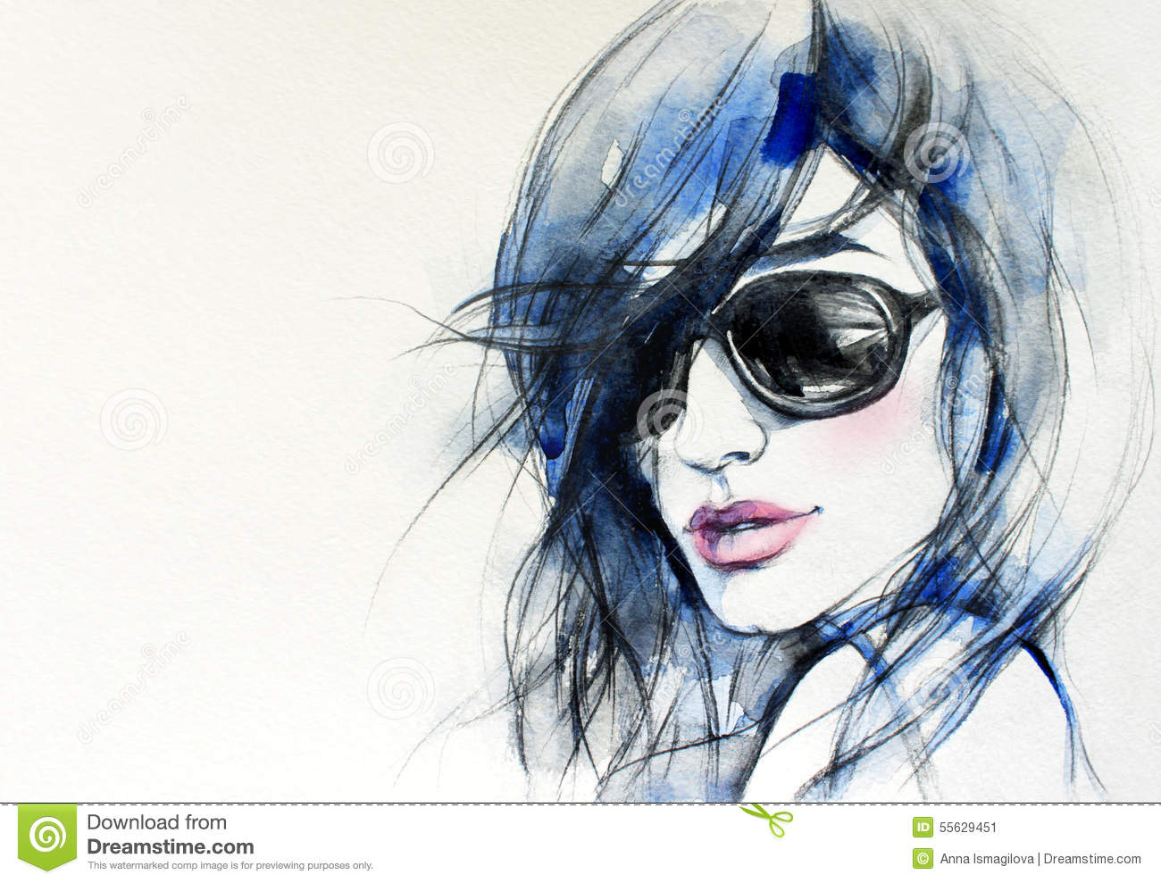 abstract woman portrait fashion background stock illustration
