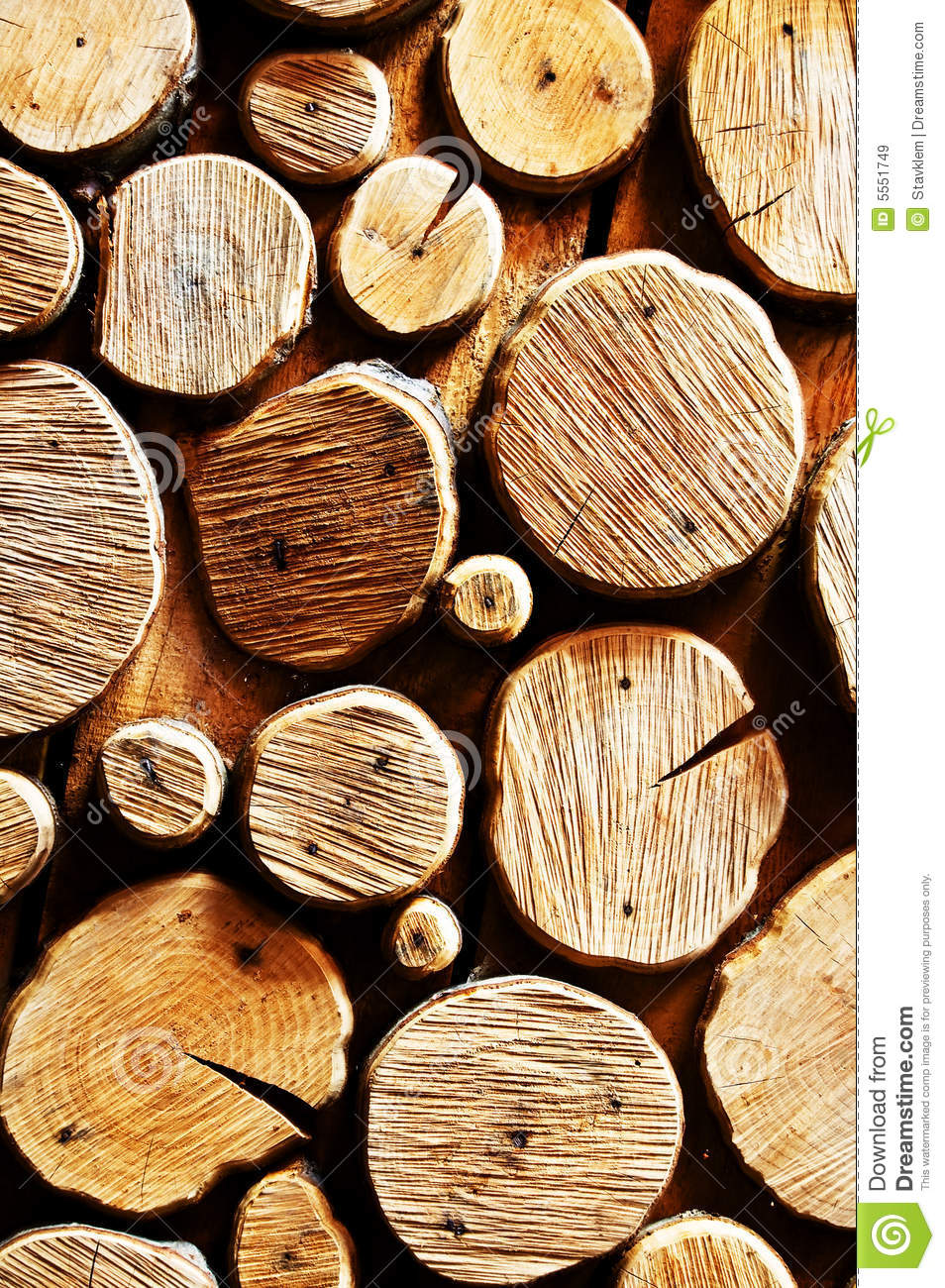 Abstract wood log background