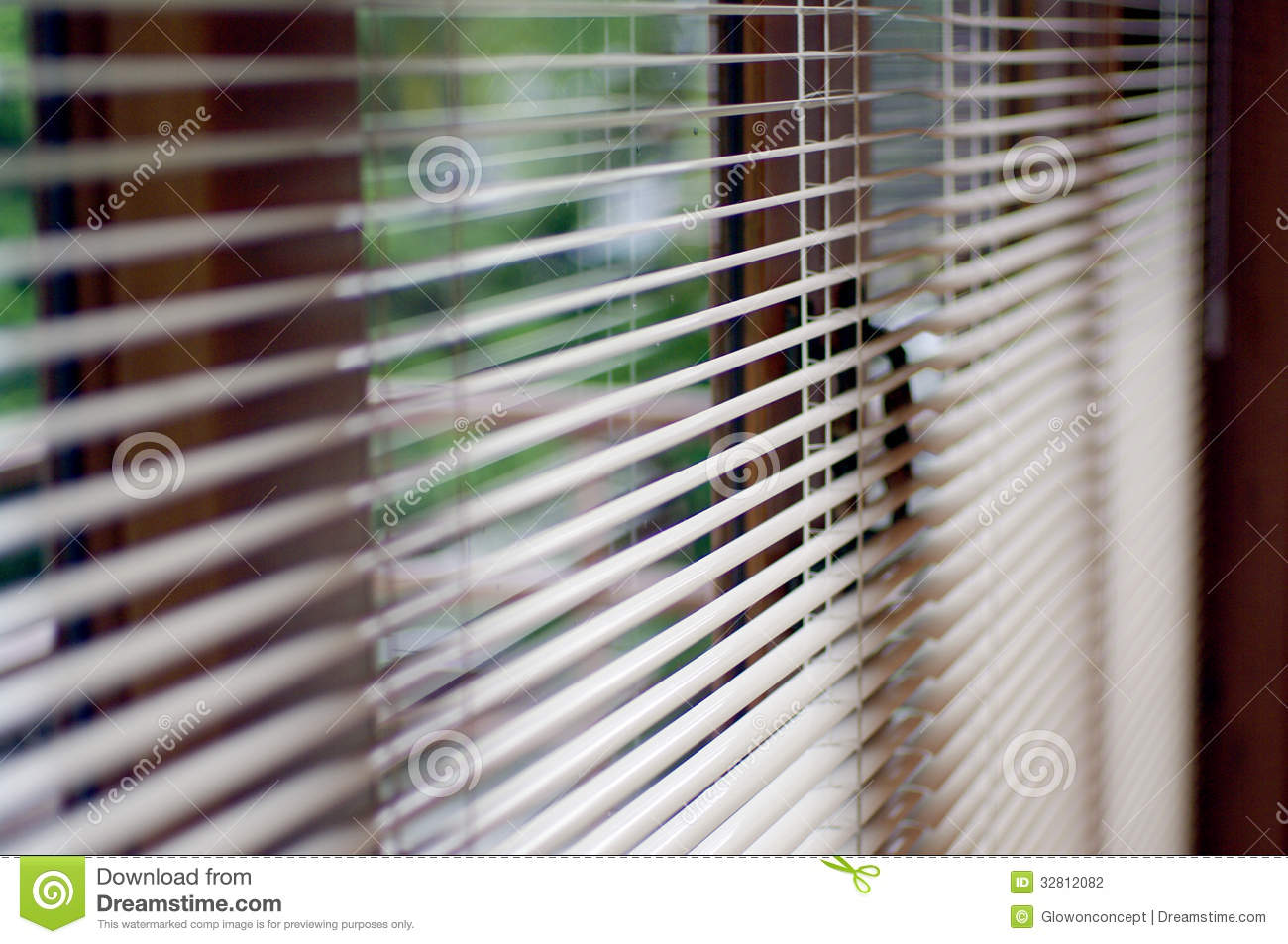 Windows jalousie, sunny blind at house and office