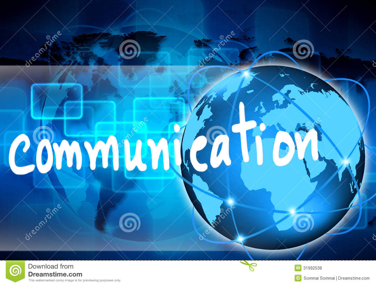 Abstract The World Communication Royalty Free Stock Photos