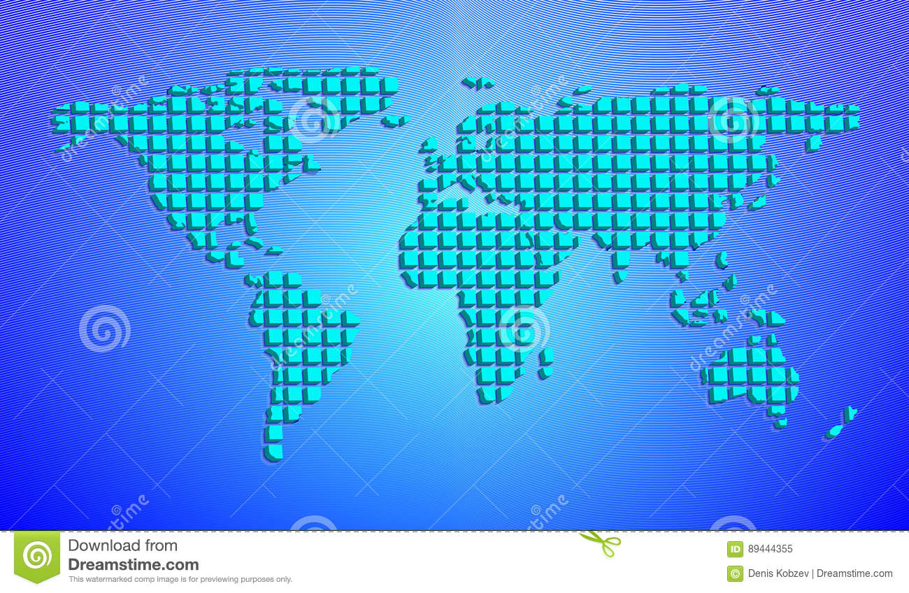 Abstract world map from 3d squares vector illustration stock abstract world map from 3d squares vector illustration royalty free vector gumiabroncs Images