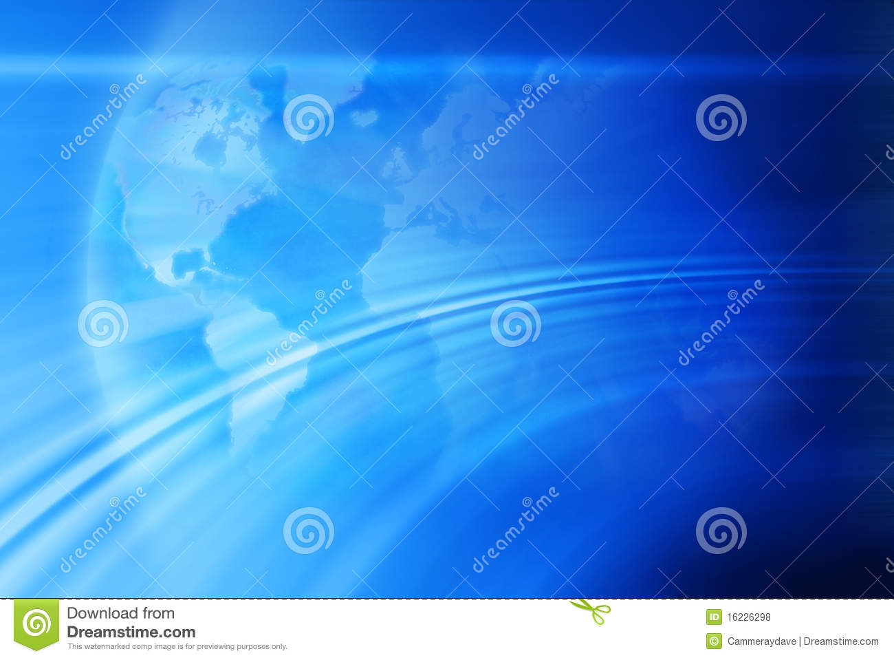 Abstract World Map Globe Background