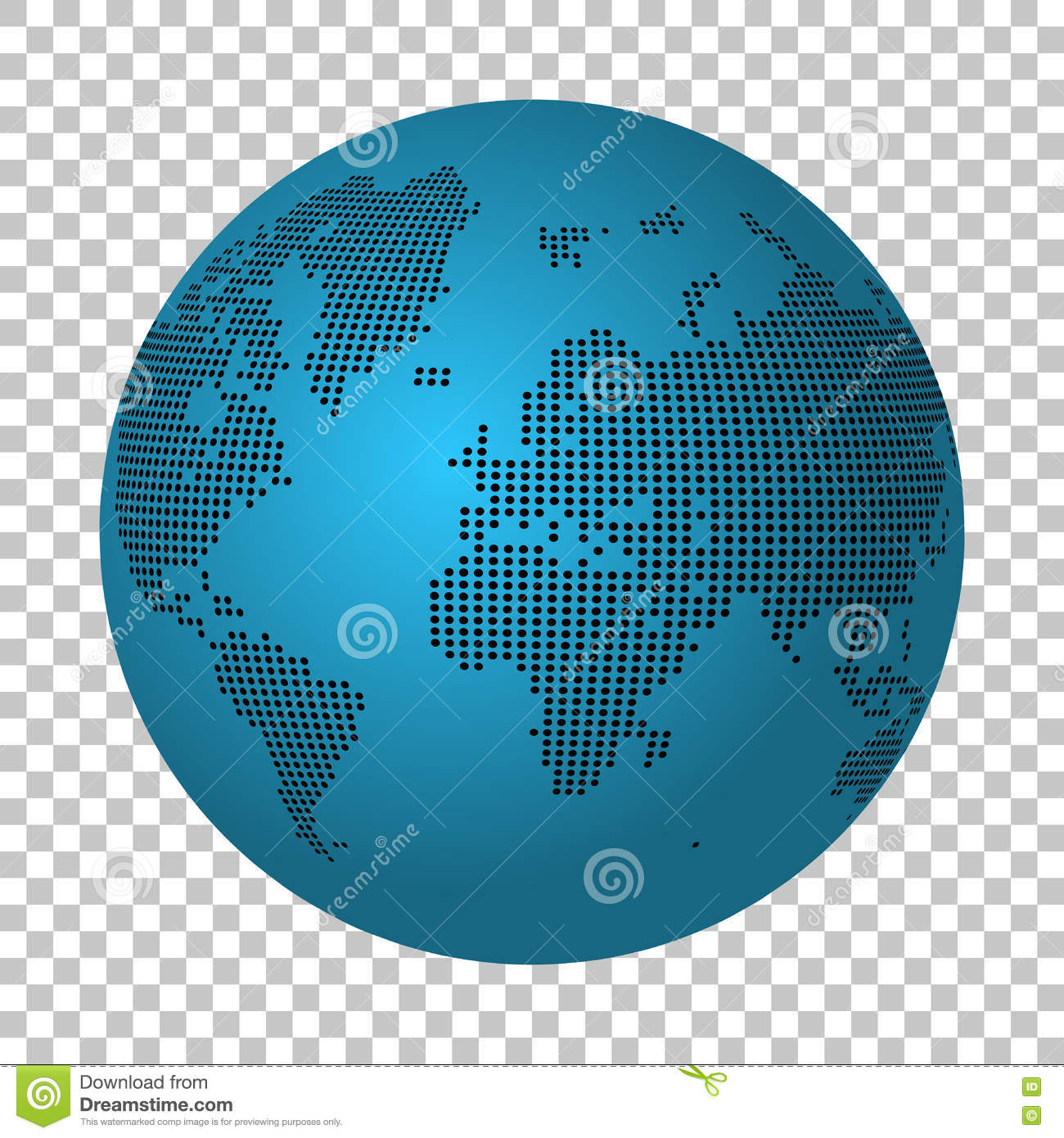 Abstract world map made of dots earth continental dot map stock earth continental dot map royalty free vector download gumiabroncs Choice Image