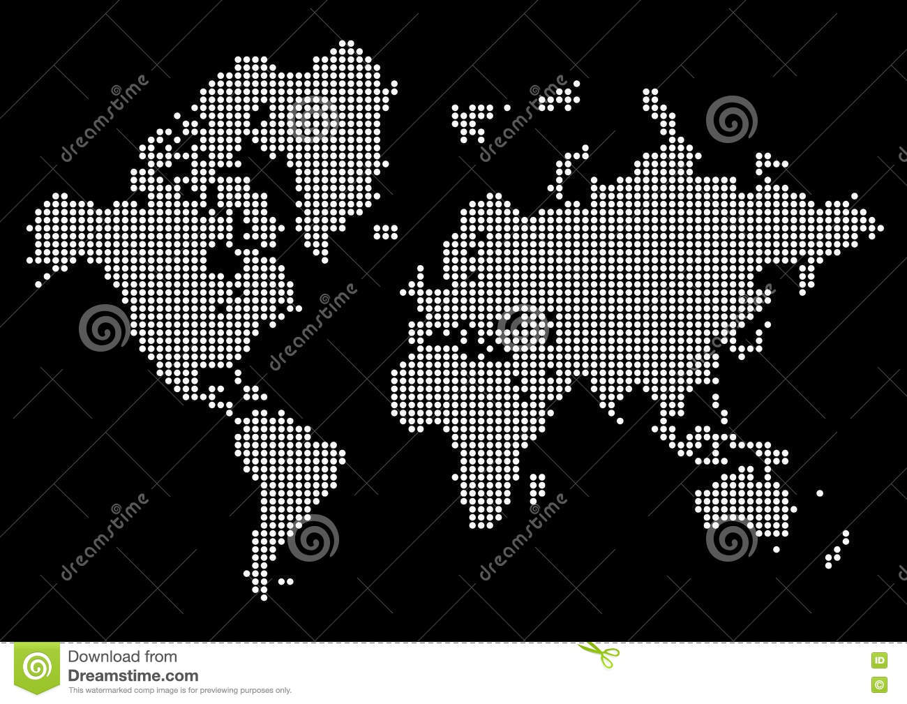 Abstract world map made of dots white dot world on black background abstract world map made of dots white dot world on black background gumiabroncs Images