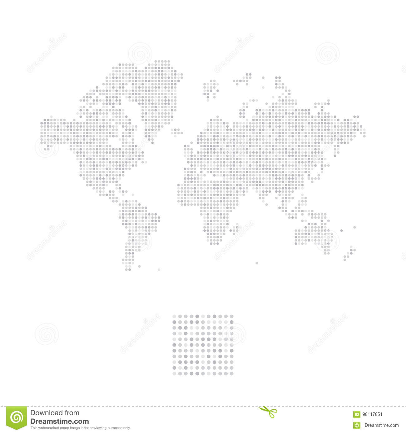 Abstract world map in a round dots flat illustration eps 10 stock abstract world map in a round dots flat illustration eps 10 gumiabroncs Image collections