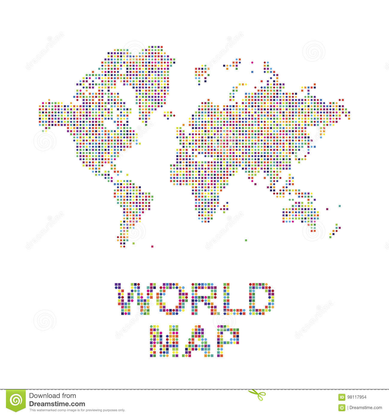 Abstract world map in a round and square dots flat illustration eps abstract world map in a round and square dots flat illustration eps 10 earth north publicscrutiny Gallery