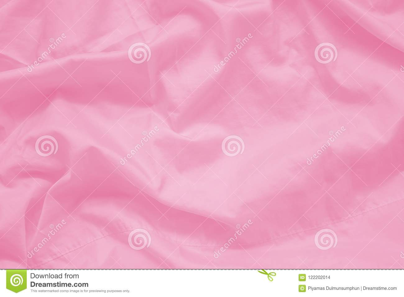 Abstract wrinkled sweet pink color fabric cloth texture with fabric