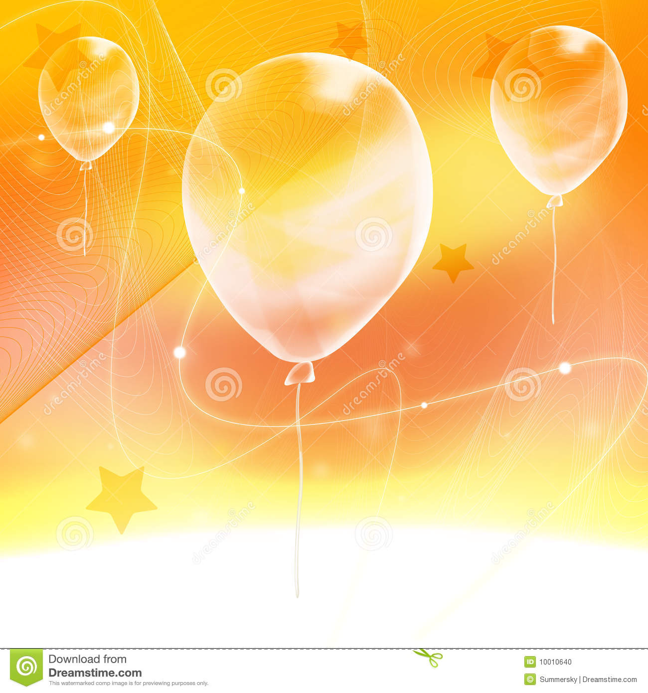 Abstract Yellow Background With Ballon Stock Photo Image