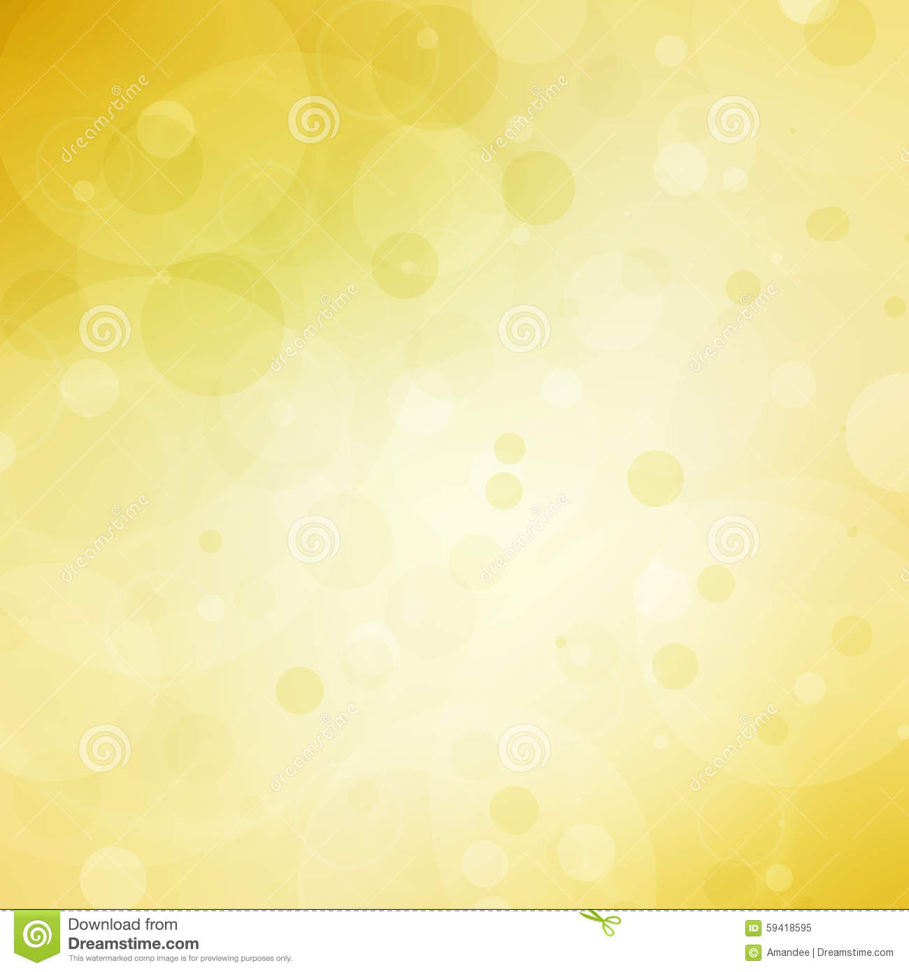 abstract yellow background with bokeh bubble lights and