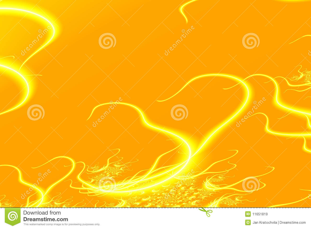 Abstract yellow background with hearts