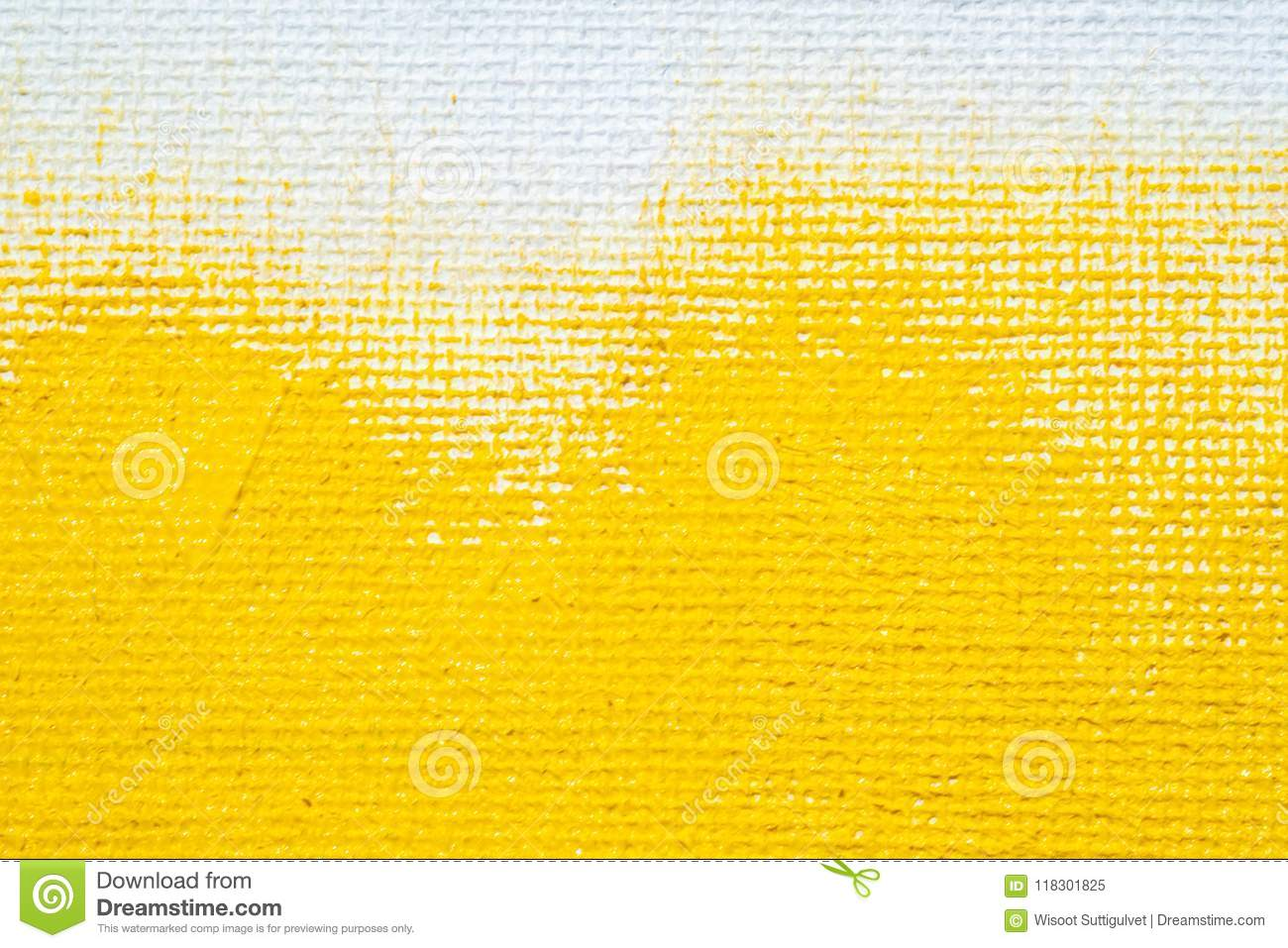 Abstract yellow background white grunge border yellow color with white canvas edges, vintage grunge background texture