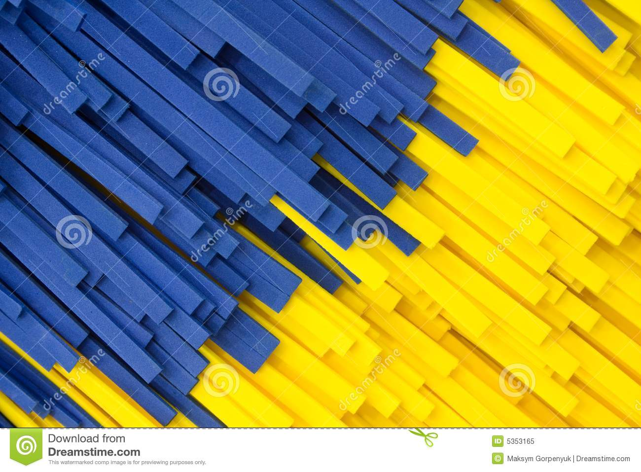 Abstract Yellow And Blue Strip Facture Stock Image Image