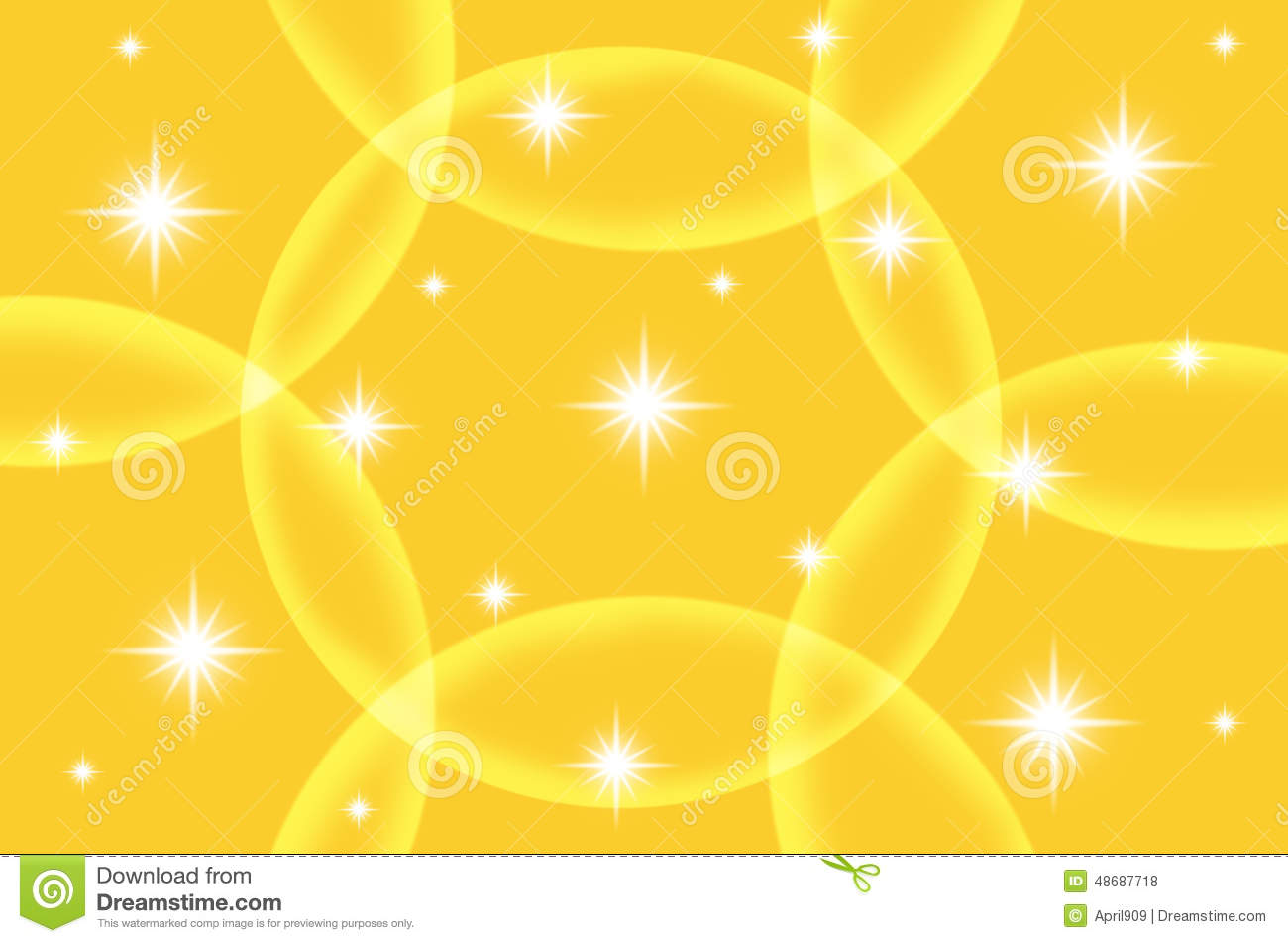 abstract yellow color background with star stock