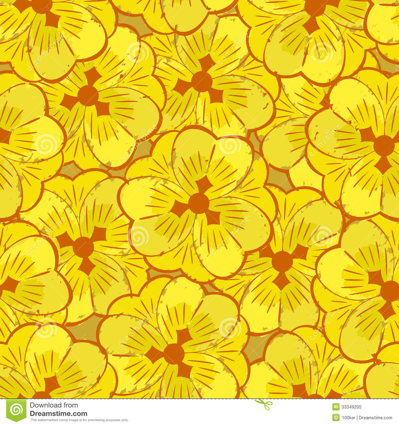yellow floral pattern - photo #45