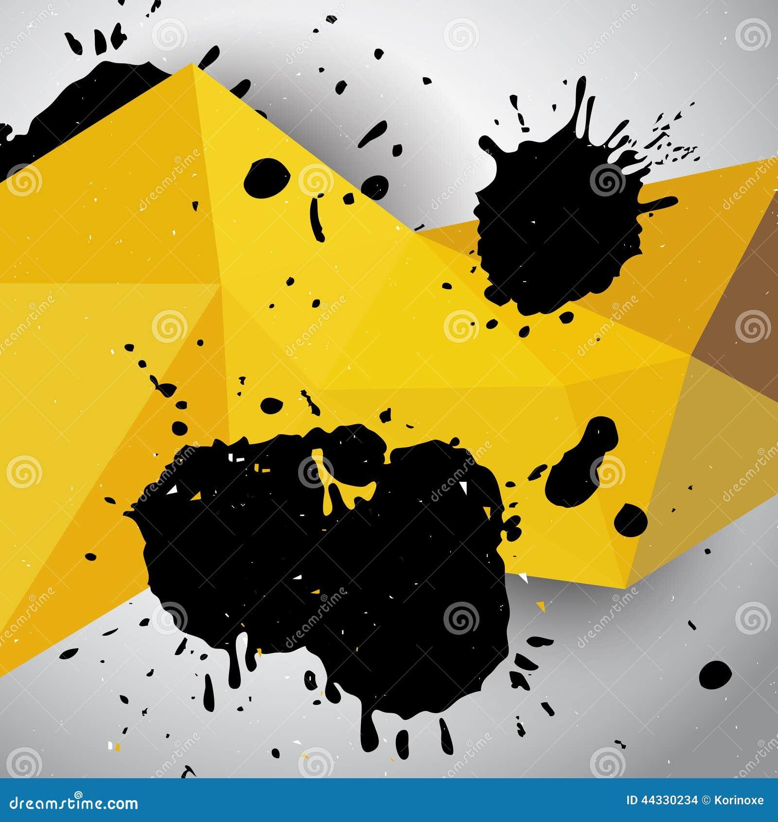 geometric yellow background illustration - photo #36