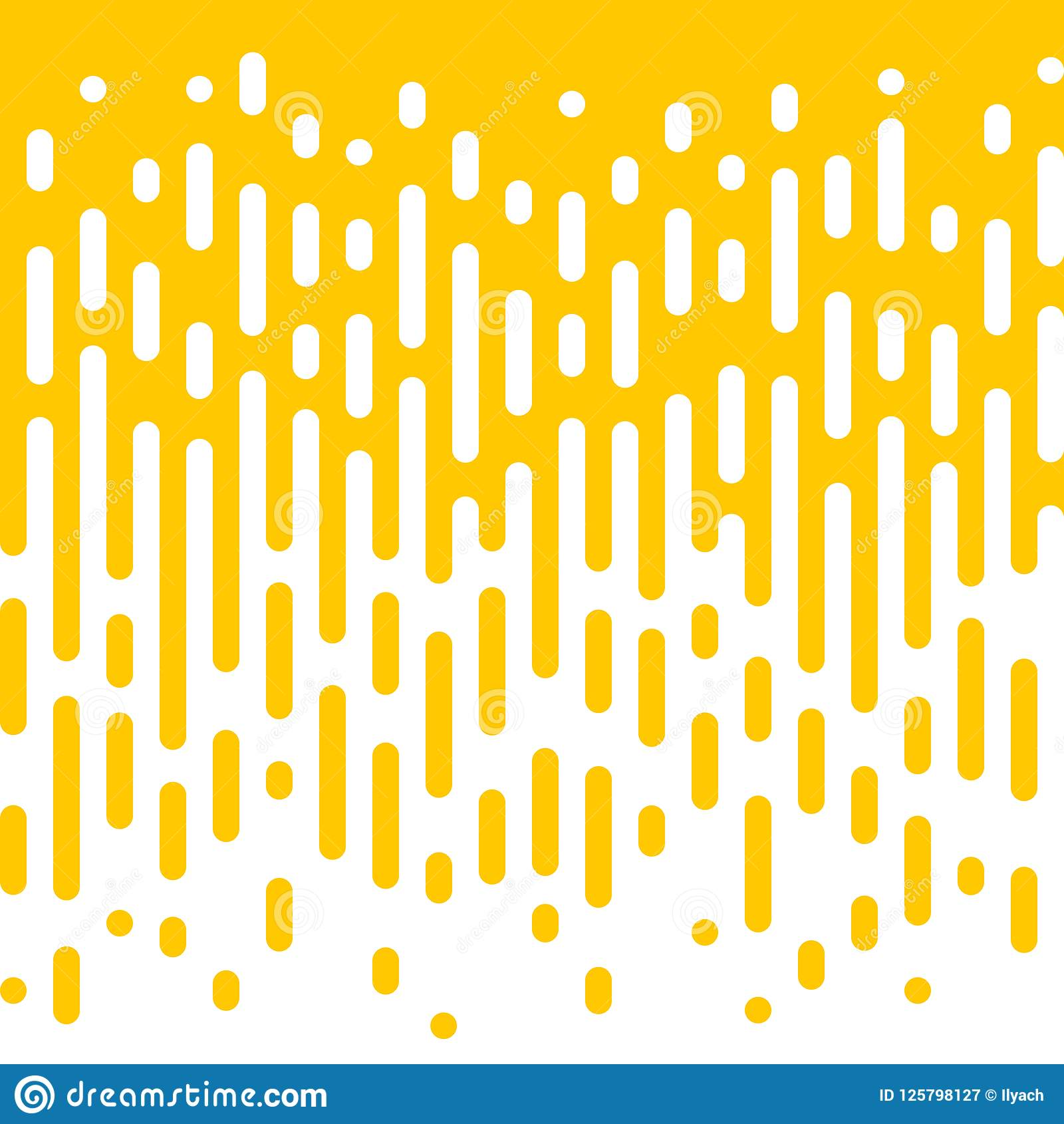 Abstract yellow line flow halftone background