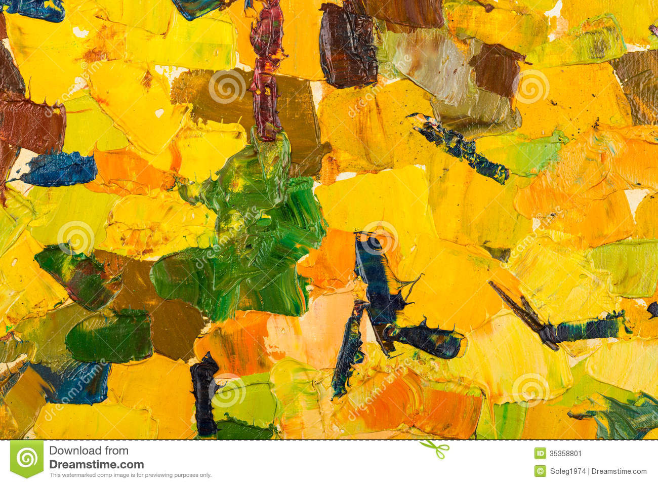 Abstract Yellow Oil Painting On Canvas. Stock Illustration ...Yellow Abstract Painting