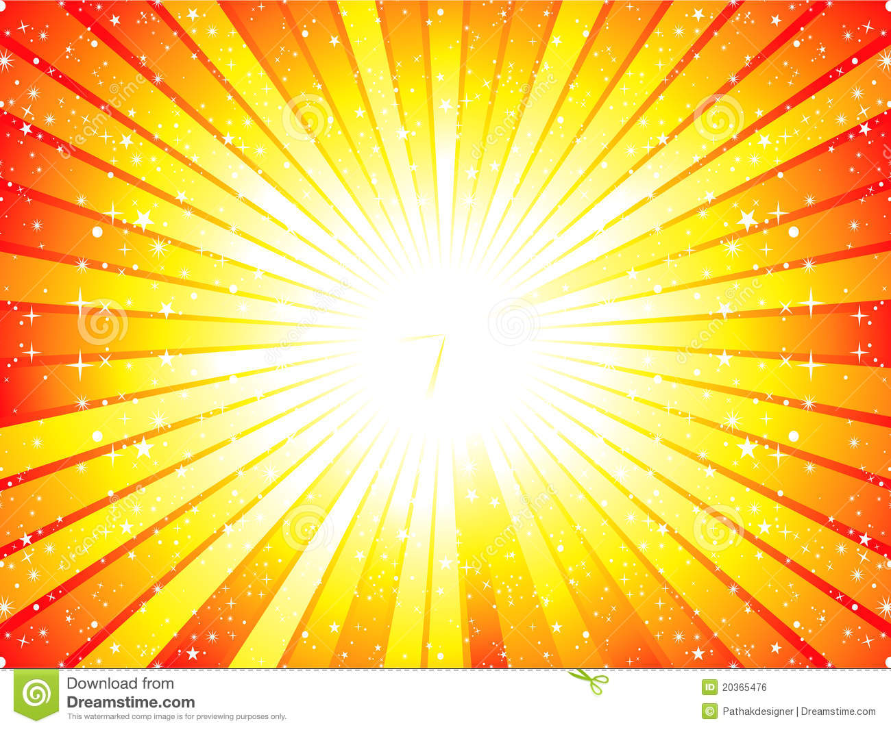 Abstract Yellow Sunbeam Background Royalty Free Stock