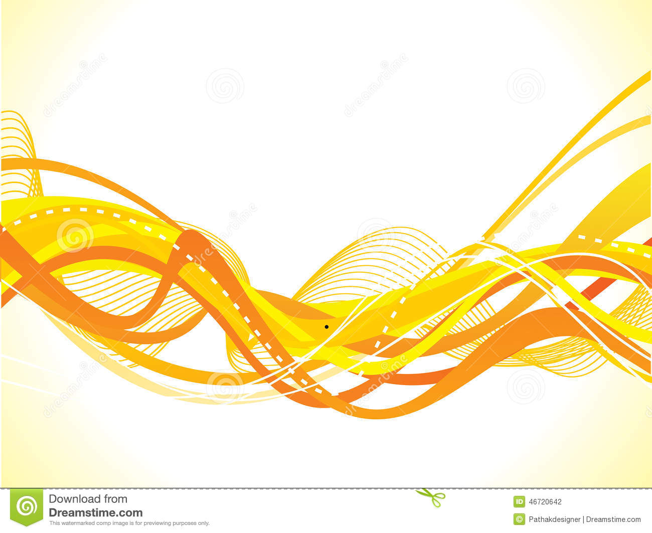 Abstract Yellow Wave Background Stock Vector ...