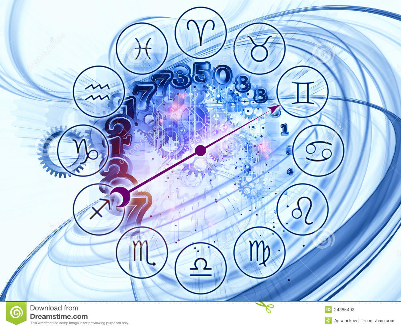 Abstract Zodiac backdrop stock illustration  Illustration of predict