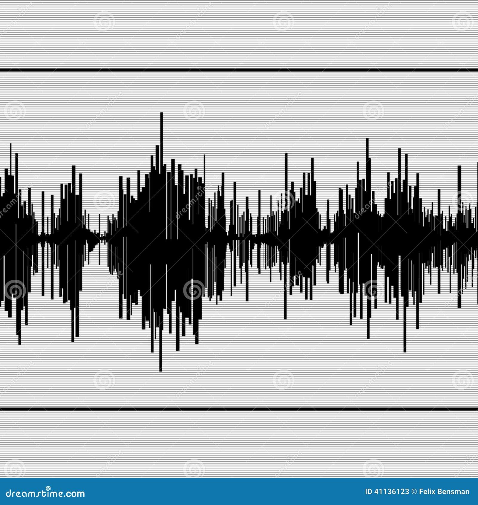 Abstract zwart seismogram