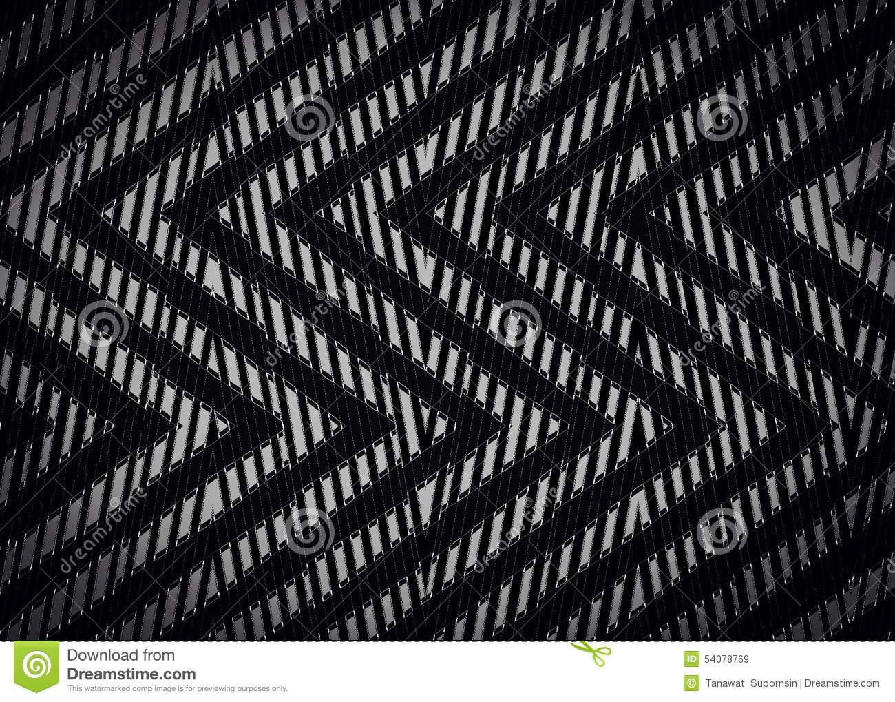 Abstract Zwart Zigzagpatroon