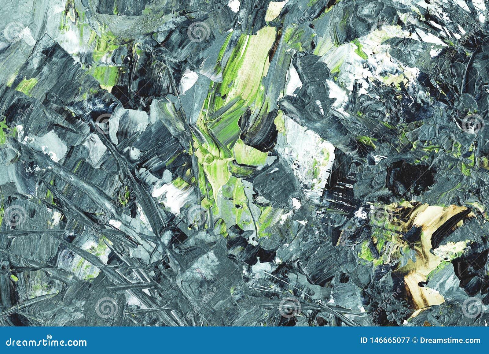 Abstracte achtergrond, grijze en groene elementen