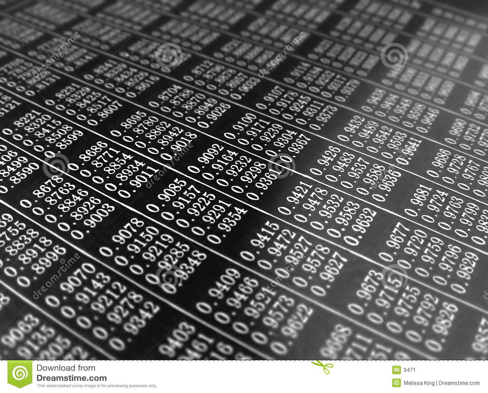 Abstracte Achtergrond met Aantallen